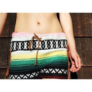 Pants - VNG tribal print knit and leather shorts size S